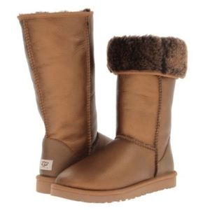 Bronze tall UGGs size 9
